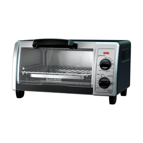 Black and Decker Chrome Black/Silver Convection Toaster Oven