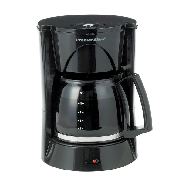 Proctor Silex 48524 Coffeemaker, 12 Cup, Black