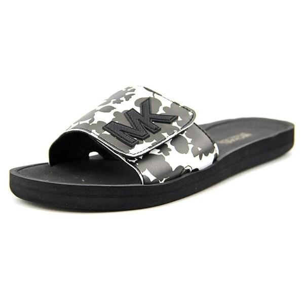 89bcb9ff0ad4 Michael Michael Kors Mk Sport Slide Women Open Toe Synthetic Black Slides  Sandal