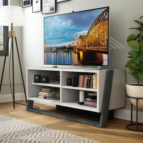 Furniture of America Isabelle Mid-century Modern 4-shelf TV Console