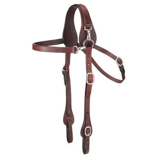 Tough-1 Bridle Mule Leather Snap Fully Adjustable Dark Oil