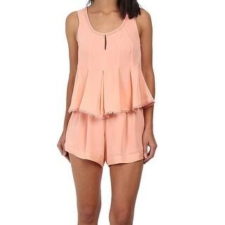 Rebecca Minkoff NEW Pink Women's Size Medium M Romper Silk