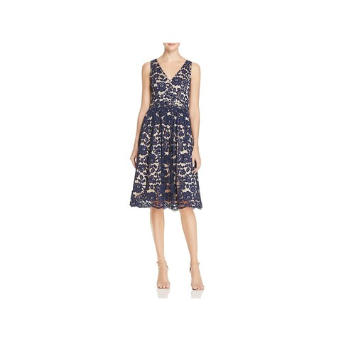 Eliza J Womens Cocktail Dress Lace Fit & Flare