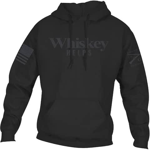 Grunt Style Whiskey Helps Pullover Hoodie - Black