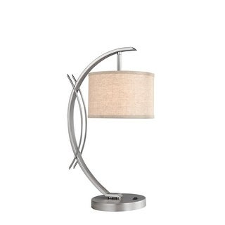 Woodbridge Lighting 13481STN-S10801 1 Light Table Lamp from the Eclipse Collection - Grey - n/a