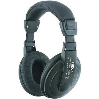 """Naxa NAXNE916B Naxa Super Bass Professional Digital Stereo Headphones with Volume Control"""