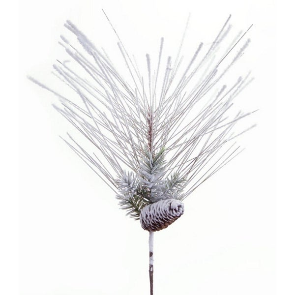"""Club Pack of 12 Artificial Snowy Mixed Pine Christmas Sprays with Pine Cones 24"""""""