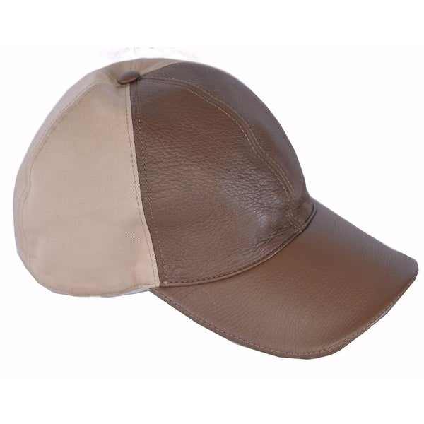 846848645cf Shop Gucci Men s 337798 Interlocking GG Calf Leather Canvas Baseball Cap  Hat M - Free Shipping Today - Overstock - 14655311