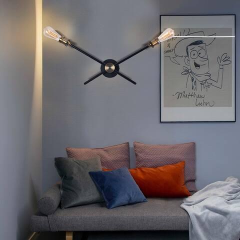 OYIPRO-Modern 2/3 Lights Sputnik Black Wall Sconce for Living Room