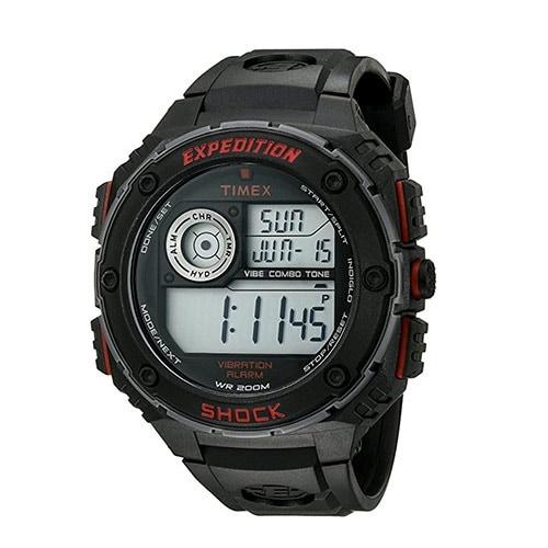 Timex T49980 Mens Expedition Digital Rubber Quartz Sport Watch Black