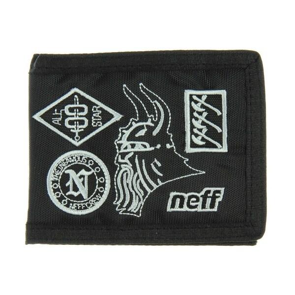 neff Men's Warlords Bilfold Wallet Black One Size Bi-Fold 100% Nylon - One Size Fits most