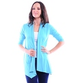 Simply Ravishing Women's Basic 3/4 Sleeve Open Cardigan (Size: Small-5X) - Thumbnail 1