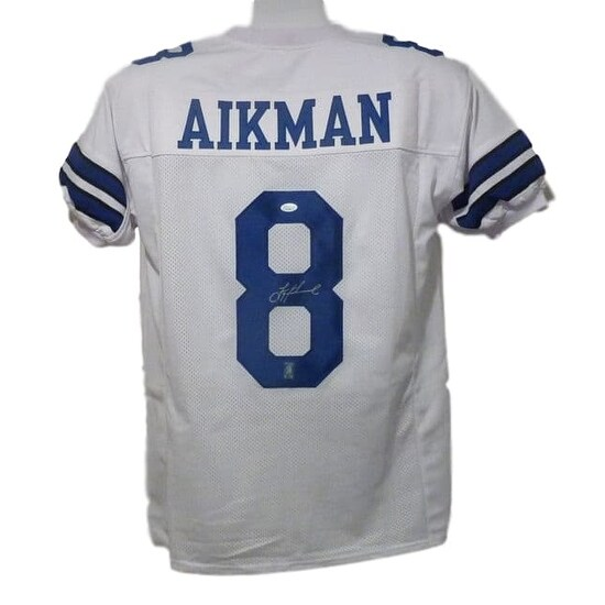 online store a2a7f 48642 Troy Aikman Autographed Dallas Cowboys size XL white Jersey JSA