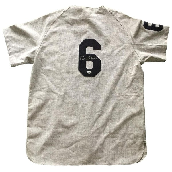 new style 3e997 d52e6 Al Kaline Signed Detroit Tigers Authentic Gray Mitchell & Ness Jersey BAS