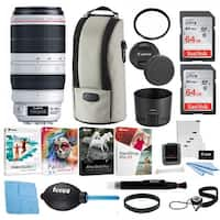 Canon EF 100-400mm f/4.5-5.6L IS USM II Telephoto Zoom Lens and Accessory Bundle