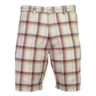 Club Room Men's Plaid Pattern Multi Color Shorts