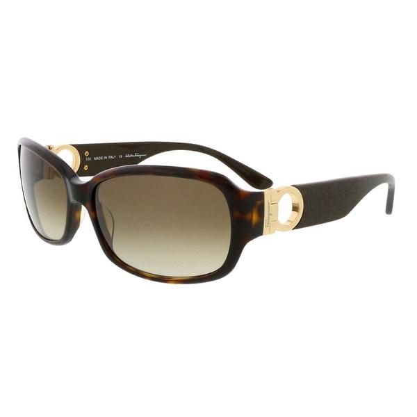 Salvatore Ferragamo SF608S 214 Tortoise Square Sunglasses - 59-16-130
