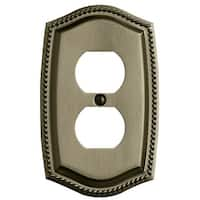 Baldwin 4789.CD Rope Design Double Outlet Solid Brass Switchplate