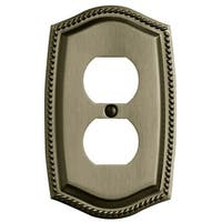 Baldwin 4789.CD Rope Design Double Outlet Solid Brass Switchplate - N/A