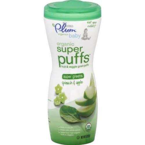 Plum Organics - Spinach & Apple Super Puffs ( 8 - 1.5 OZ)
