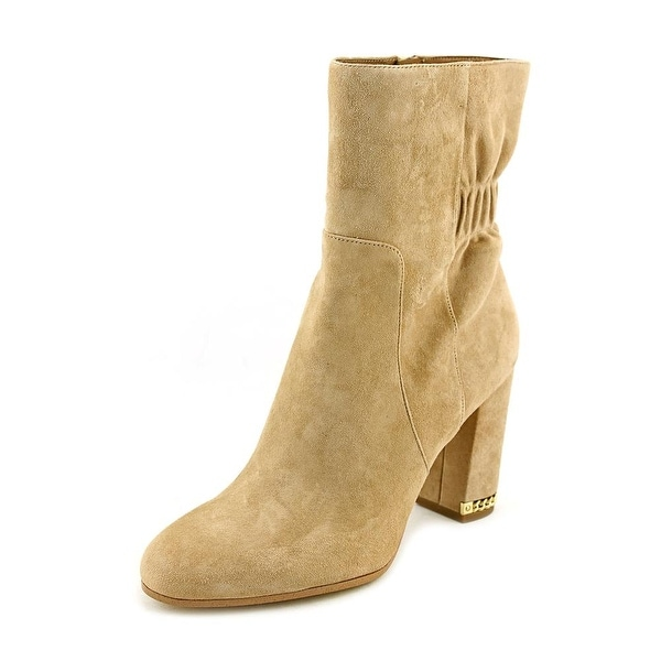Michael Michael Kors Dolores Bootie Women Round Toe Suede Tan Ankle Boot