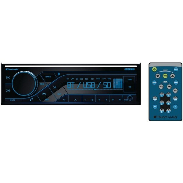 Planet Audio P370Mb Single-Din In-Dash Mechless Am/Fm Receiver With Bluetooth(R)