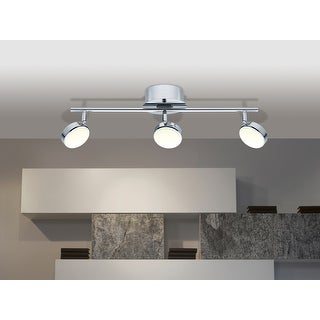Link to Eglo Salto 3-light Silver LED Adjustable Track Light Similar Items in Track Lighting