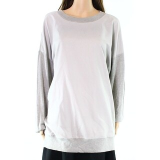 Lauren by Ralph Lauren NEW Gray Womens Size Medium M Pullover Sweater