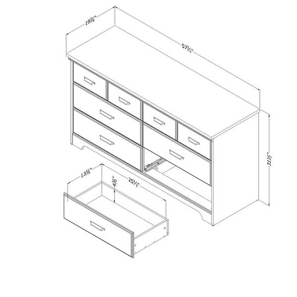 Versa Country Cottage 6-drawer Double Dresser