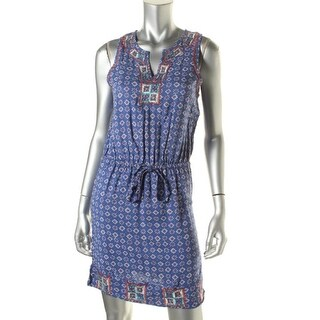 Lucky Brand Womens Juniors Pattern Embroidered Casual Dress - M