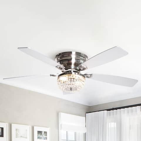48-in Low Profile Crystal Indoor Ceiling Fan
