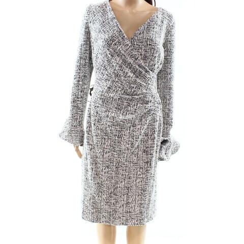 Lauren by Ralph Lauren Black Women's Size 16 Tweed Sheath Dress