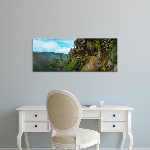 Easy Art Prints Panoramic Images's 'Inca Trail at the mountainside, Machu Picchu, Cusco Region, Peru' Canvas Art