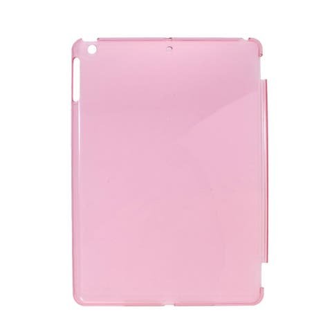 Unique Bargains Clear Pink Hard Back Case Cover Guard for iPad 5
