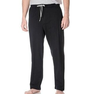 Hanes NEW Black Mens Size XL Drawstring Pull-On Lounge Pants Sleepwear 582