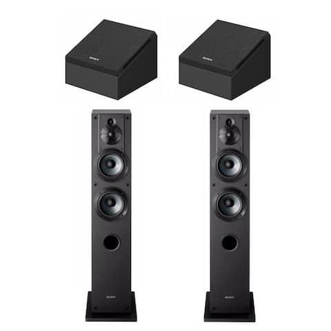 Sony Dolby Atmos Enabled Speakers (SS-CSE) and Floor-Standing Speaker - Black