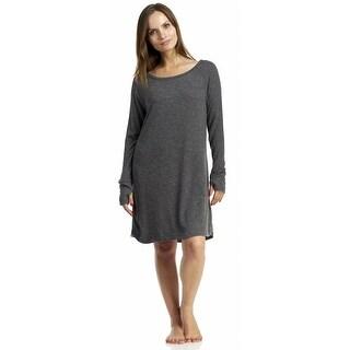 Rene Rofe Staycation Sleepshirt - Charcoal Grey
