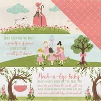 "Rock-A-Bye Baby Girl Double-Sided Cardstock 12""X12""-Nursery Rhymes"