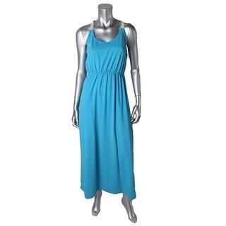Rebellious One Womens Juniors Knit Lace-Trim Maxi Dress