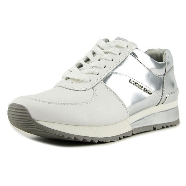 Michael Michael Kors Allie Wrap Trainer Women Leather White Fashion Sneakers