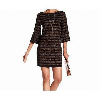 Trina Turk Bronze Striped Women's Sweater Dress