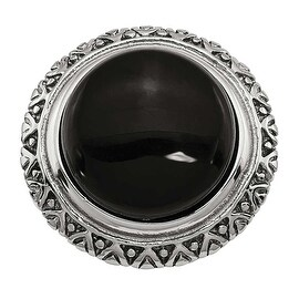 Chisel Stainless Steel Black Glass with Textured Edge Ring