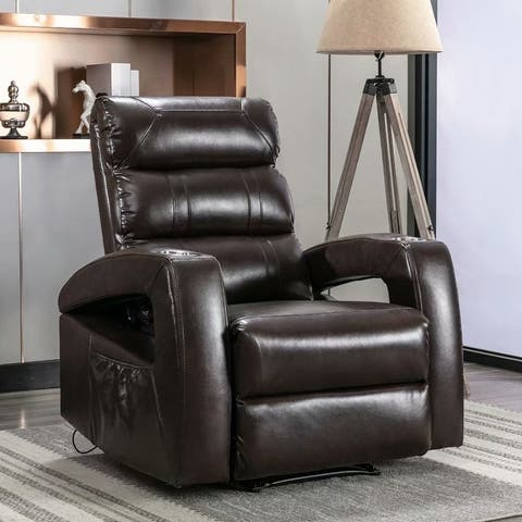 Big Power Home Theater Recliners , USB Port and Cup Holders
