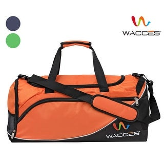 Wacces Lightweight Sport Gym Travel Duffel Bag with Shoe Punch Medium