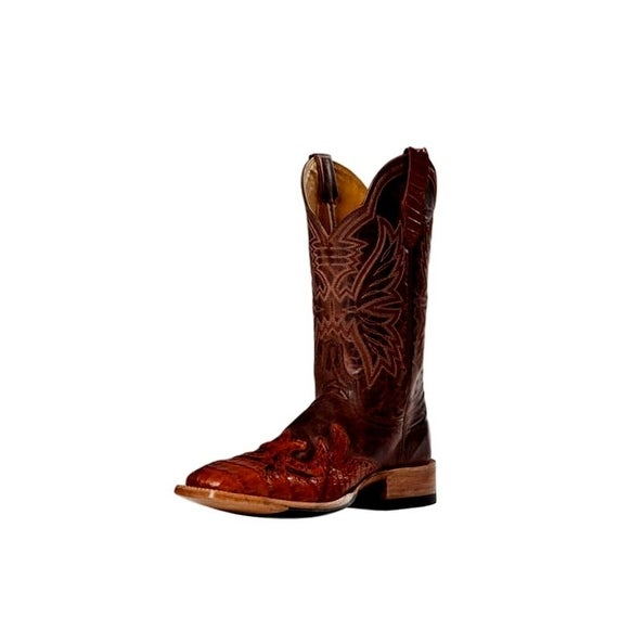 Cinch Western Boots Womens Cowboy Mad Dog Square Toe Cognac