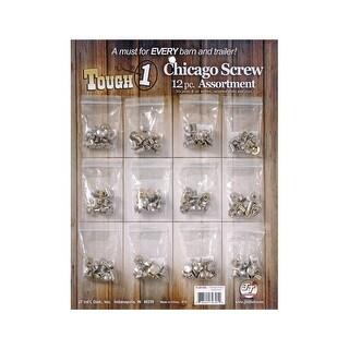 Tough-1 Chicago Screw Engraved Steel Aluminum Brass 144 Piece