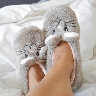Women's Animal Footsie Slippers - Snuggle Bunny