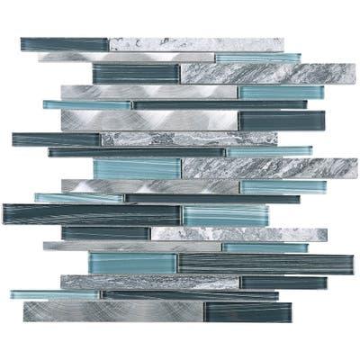 Blue And Gray Backsplash Tile