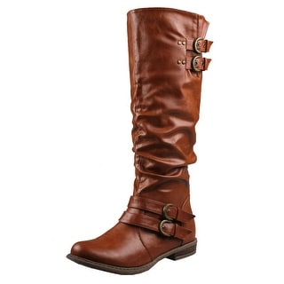 Refresh Women Bailey-03 Boots - Cognac - 5.5 b(m) us