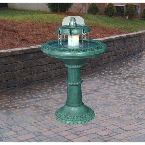 Alpine TEC102 Fountain With Bell Shaped Fountain & Light [Lawn & Patio]